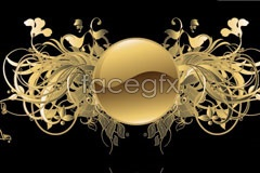 Link toGold gorgeous patterns and crystal balls vector