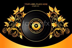 Link toGold gorgeous patterns and music vector