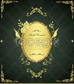 Link toGold lace border 9 vector