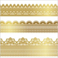 Link toGold lace pattern 01 vector