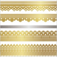 Link toGold lace pattern 02 vector