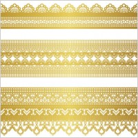 Link toGold lace pattern 04 vector