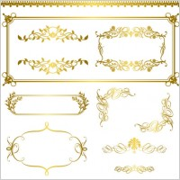 Link toGold lace pattern 05 vector
