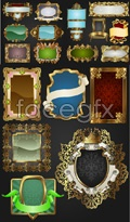 Gold lace pattern border vector