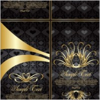 Link toGold lace pattern vector