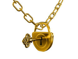Link toGold lock and chain quality picture material