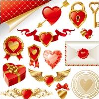 Link toGold love element vector