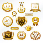 Link toGold medal icons vector
