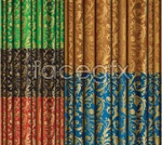 Link toGold pattern fabric vector