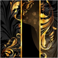 Gold pattern vector 4