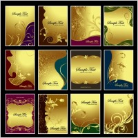 Link toGold pattern vector subject