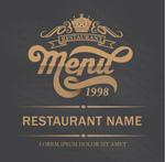 Link toGold restaurant menu vector
