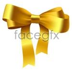 Link toGold ribbon bow vector