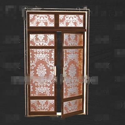 Link toGold-rimmed gorgeous pattern doors 3d model