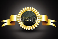 Link toGold textured badge vector