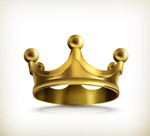 Link toGold textured crown vector