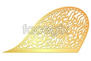 Link toGold textured traditional pattern vector