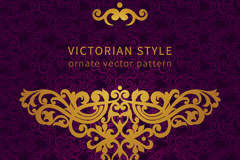 Link toGold victorian pattern background vector