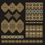 Link toGold vintage patterns vector