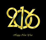 Golden 2016 wordart vector
