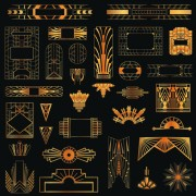 Link toGolden art ornament elements vector 02 free