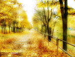 Link toGolden autumn landscape background vector