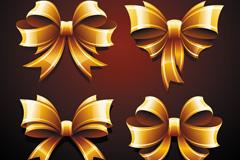 Link toGolden bow decoration design vector