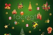 Golden christmas decoration element vector