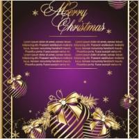 Link toGolden christmas theme vector 1