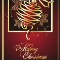 Link toGolden christmas theme vector 2