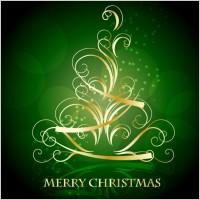 Link toGolden christmas tree pattern vector