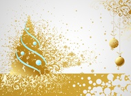 Link toGolden christmas vector card free