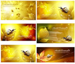 Link toGolden color banners vector