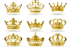 Link toGolden crown design vector