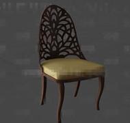Link toGolden cushion wooden chair 3d model