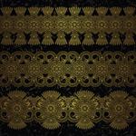 Golden decorative elements vector