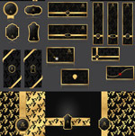 Link toGolden decorative pattern vector