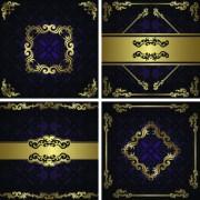 Link toGolden floral vintage vector background set 03 free