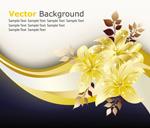 Link toGolden flower vector