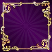 Link toGolden frame with purple background vector 01 free