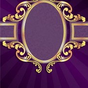 Link toGolden frame with purple background vector 02 free