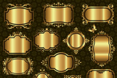Link toGolden gloss texture tag vector