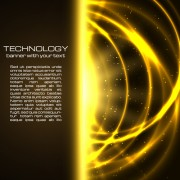 Link toGolden glow tech background vector free