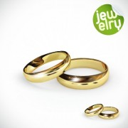 Link toGolden glow wedding rings elements vector 02 free