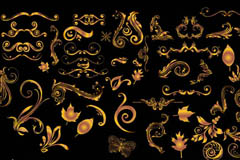 Link toGolden hand-painted pattern design vector