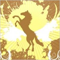Link toGolden horse background vector