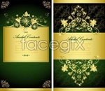 Link toGolden lace background layout vector