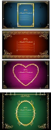 Link toGolden lace borders vector graphics