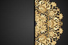 Link toGolden lace pattern vector background