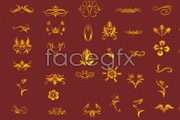 Link toGolden lace vector